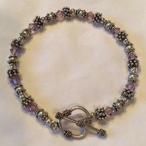 Jewelry - 🌺Anklet🌺 Sterling Silver & Swarovski Crystals